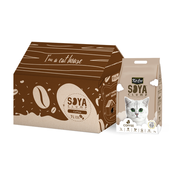 Kit Cat Soya Clump Soybean Litter - Coffee (7Lx6packs)