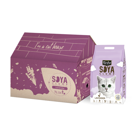 Kit Cat Soya Clump Soybean Litter - Lavender (7Lx6packs)