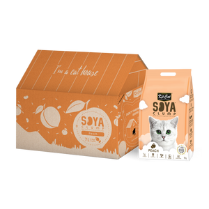 Kit Cat Soya Clump Soybean Litter - Peach (7Lx6packs)