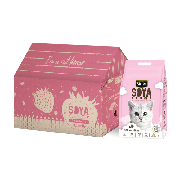 Kit Cat SoyaClump Soybean Litter - Strawberry
