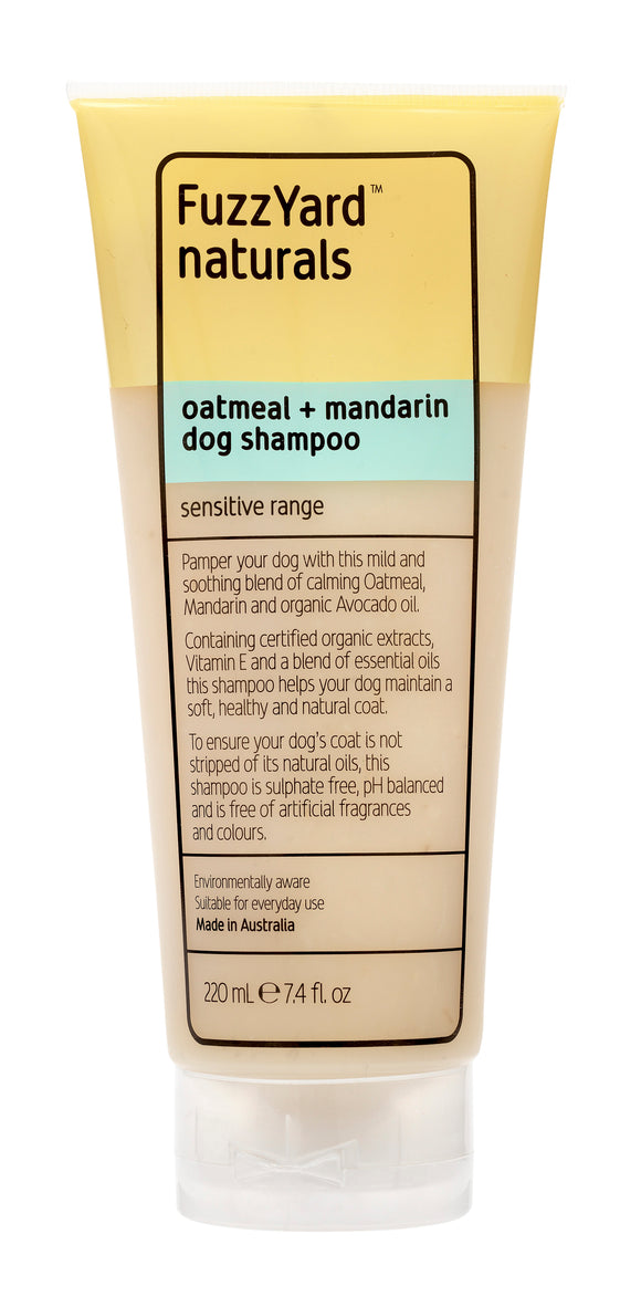 FuzzYard Oatmeal + Mandarin Sensitive Dog Shampoo