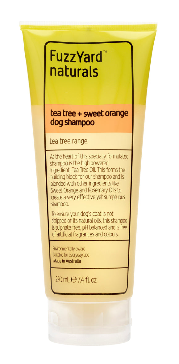 FuzzYard Tea Tree + Sweet Orange Tea Tree Dog Shampoo