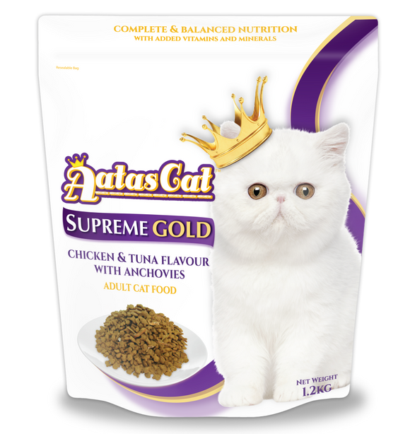 Aatas Cat Supreme Gold Chicken & Tuna w Anchovies 1.2kg