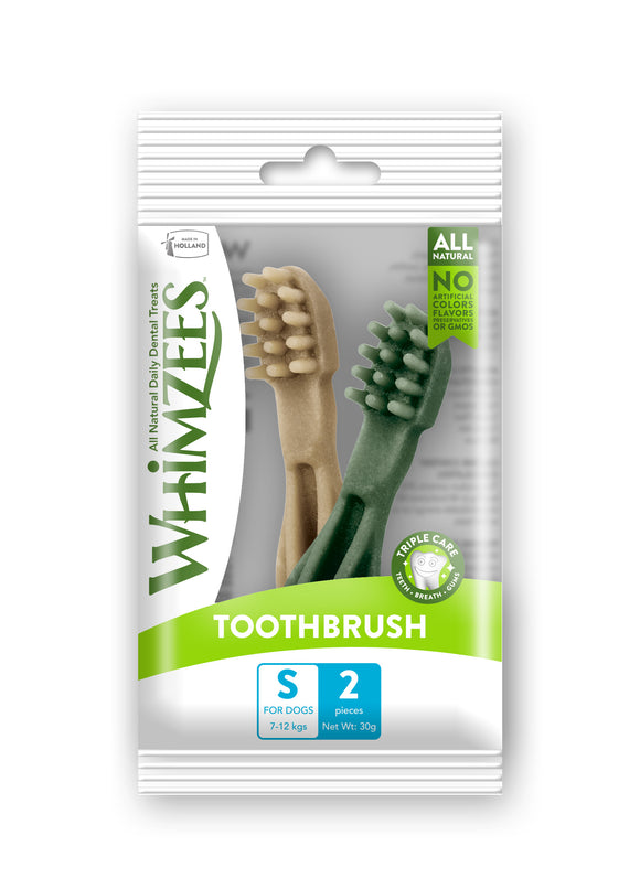 Whimzees Natural Dog Treats Toothbrush Small 2pcs