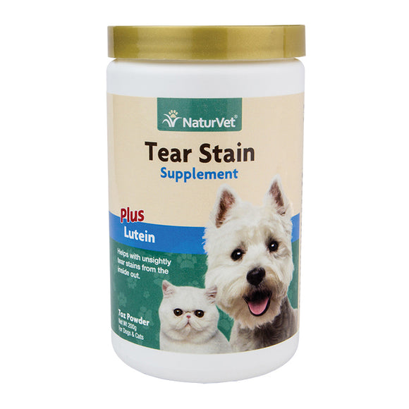 NaturVet Tear Stain Supplement Powder Plus Lutein