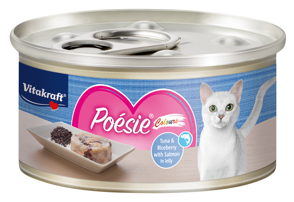 Vitakraft Poesie Colours Tuna & Riceberry in Jelly 70g