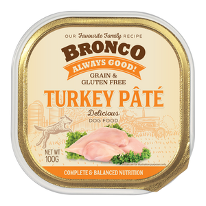 Bronco Turkey Pate Tray 100g