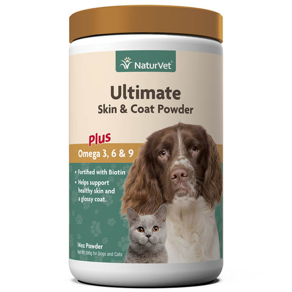 NaturVet Ultimate Skin & Coat Powder Plus Omega 3, 6 & 9