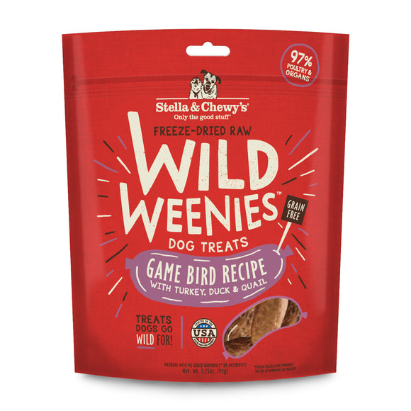 Stella & Chewy's Wild Weenies Game Bird Recipe Dog Treats 3.25oz