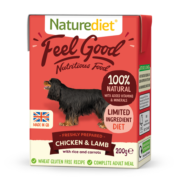 Naturediet Feel Good Nutritious Dog Food - Chicken & Lamb 200g