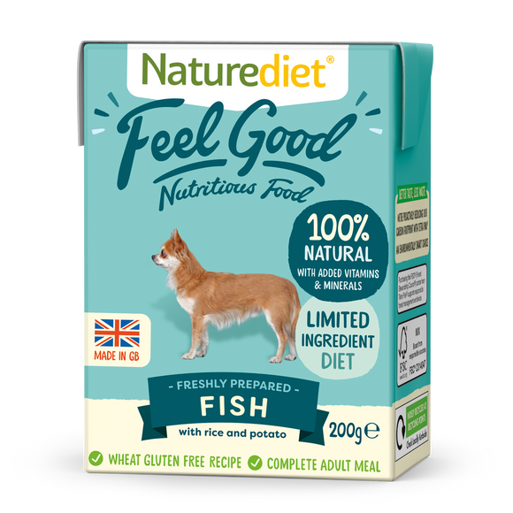 Naturediet Feel Good Nutritious Dog Food - Fish 200g