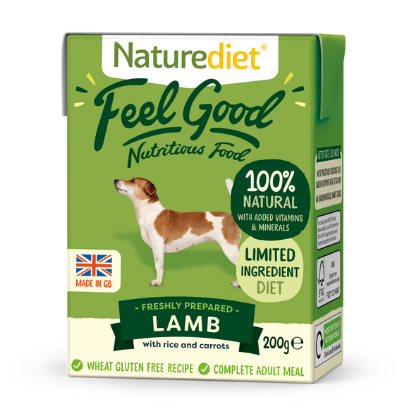Naturediet Feel Good Nutritious Dog Food - Lamb 200g
