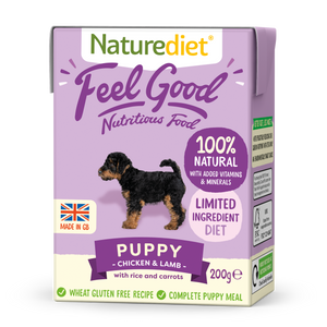 Naturediet Feel Good Nutritious Dog Food - Puppy Chicken & Lamb 200g