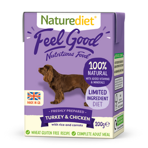 Naturediet Feel Good Nutritious Dog Food - Turkey & Chicken 200g