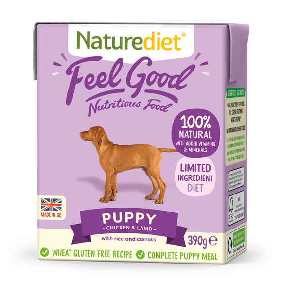 Naturediet Feel Good Dog Food - Puppy 390g