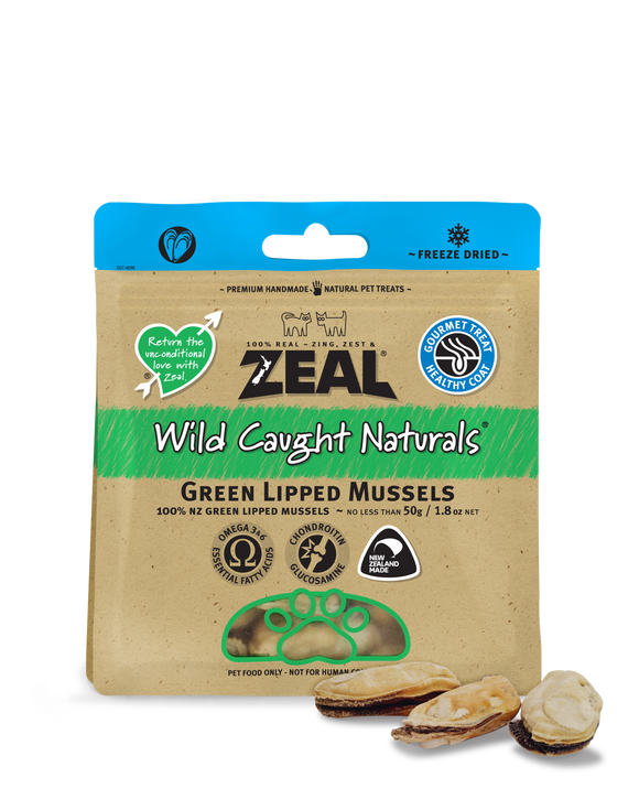 ZEAL Wild Caught Naturals Green Lipped Mussels Freeze Dried Treats 50g