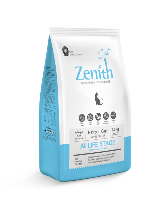 Bow Wow Zenith Cat Soft Dry Food (Hairball) 1.2kg