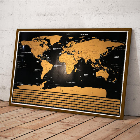 Gold Scratch World Map