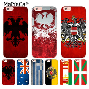 Country Flag Transparent Cover Case for Apple iPhone