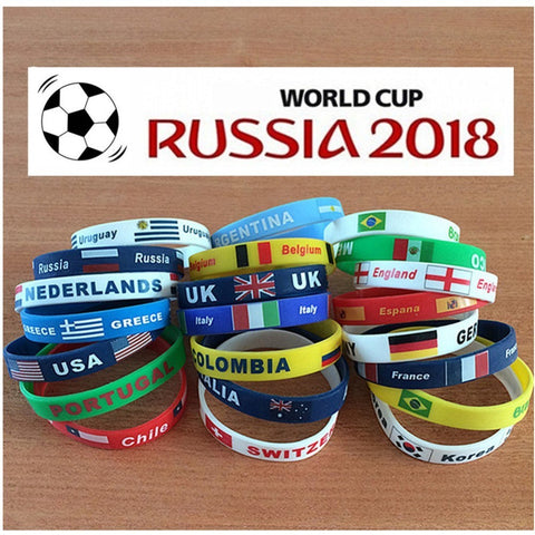 Country World Cup Flag Logo Sport Wristband