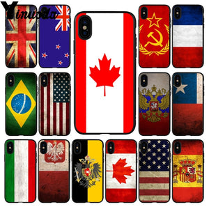 Country Flag Rubber Phone Case Cover For Apple iPhone