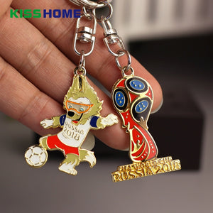 2018 Soccer World Cup Mascot Keychains