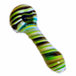 Green line glass smoking bowl