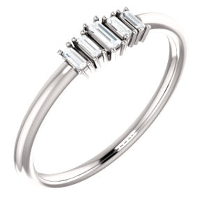 5 Diamond Baguette Stackable Ring