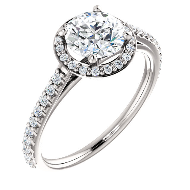 The Emilia - Round Halo Diamond Engagement Ring