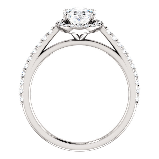 The Emilia - Oval Halo Diamond Engagement Ring