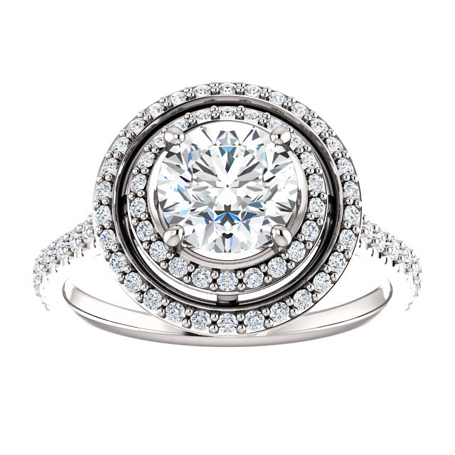 The Thea - Round Double Halo Diamond Engagement Ring