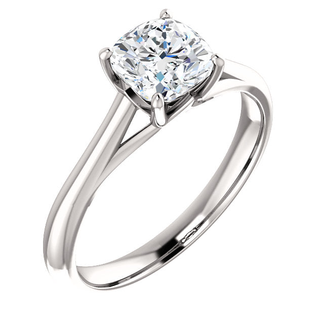 The Matilda - Solitaire Cushion Cut Diamond Engagement Ring