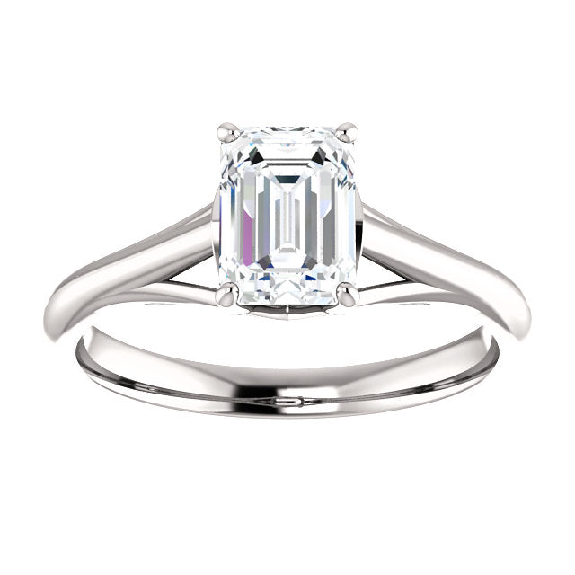 The Matilda - Solitaire Emerald Cut Diamond Engagement Ring
