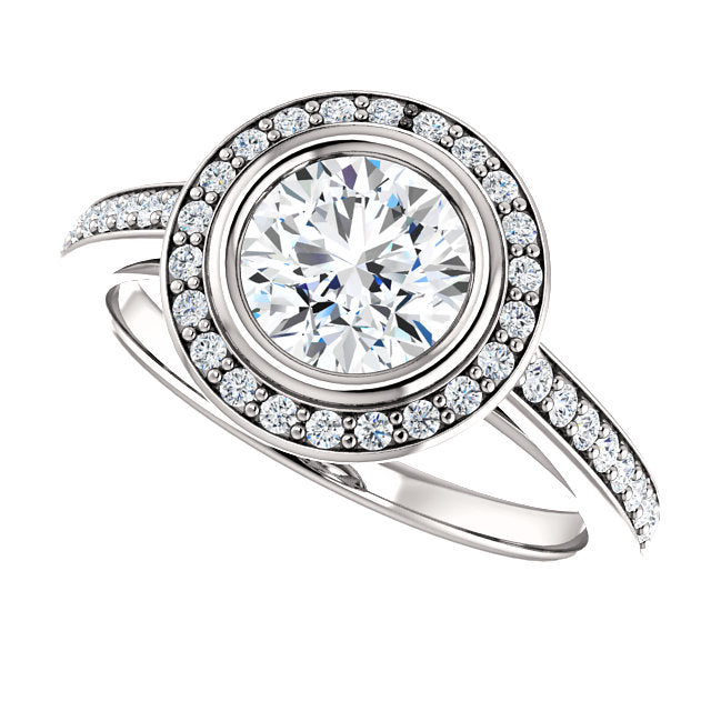 The Scarlett - Round Halo Diamond Engagement Ring