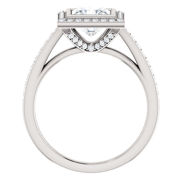 The Scarlett - Princess Cut Halo Diamond Engagement Ring