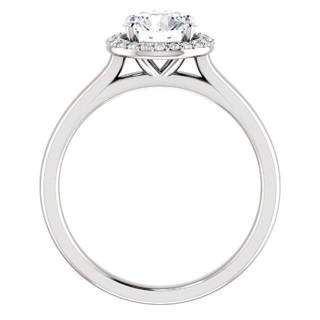 The Nora - Round Halo Diamond Engagement Ring