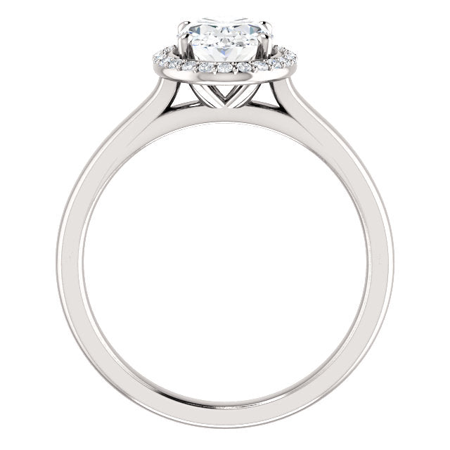 The Nora - Oval Halo Diamond Engagement Ring