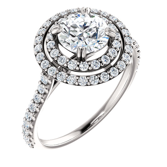 The Emma - Round Double Halo Diamond Engagement Ring