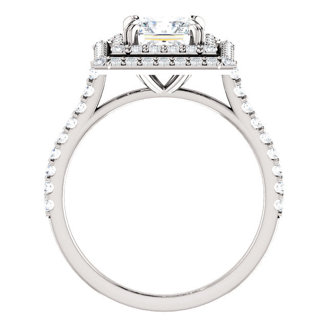 The Emma - Princess Cut Double Halo Diamond Engagement Ring