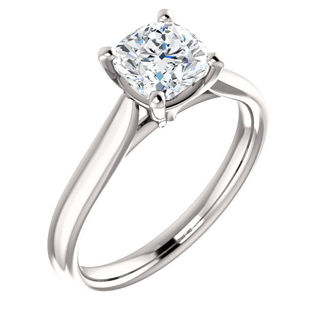 The Aria - Solitaire Cushion Cut Diamond Engagement Ring