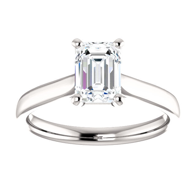 The Aria - Solitaire Emerald Cut Diamond Engagement Ring