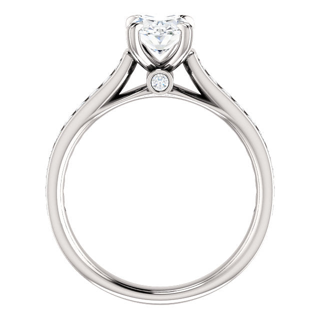 The Whitney - Oval Diamond Engagement Ring with Side Stones