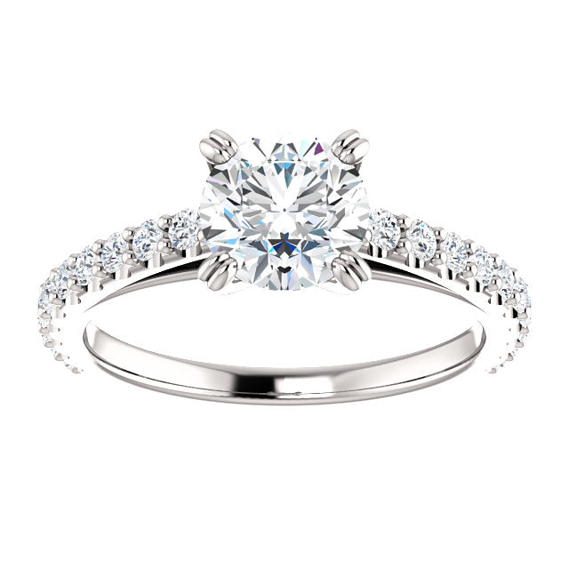 The Blaire - Round Diamond Engagement Ring with Side Stones