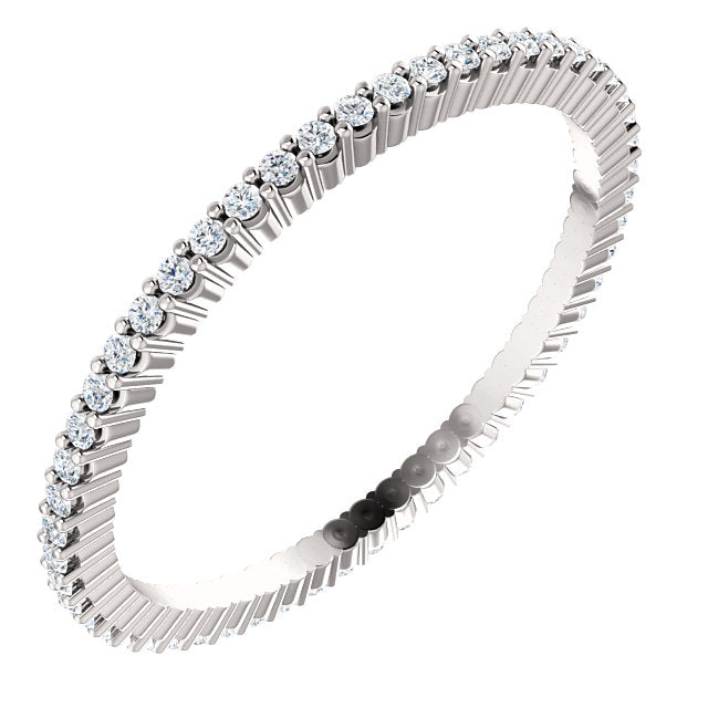 1/3ct 14k Low Profile Diamond Eternity Band with Shared Prongs