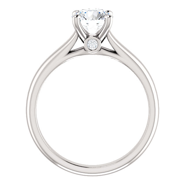 The Colette - Round Diamond Engagement Ring with Side Stones