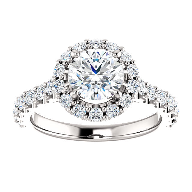 The Anna - Round Halo Diamond Engagement Ring