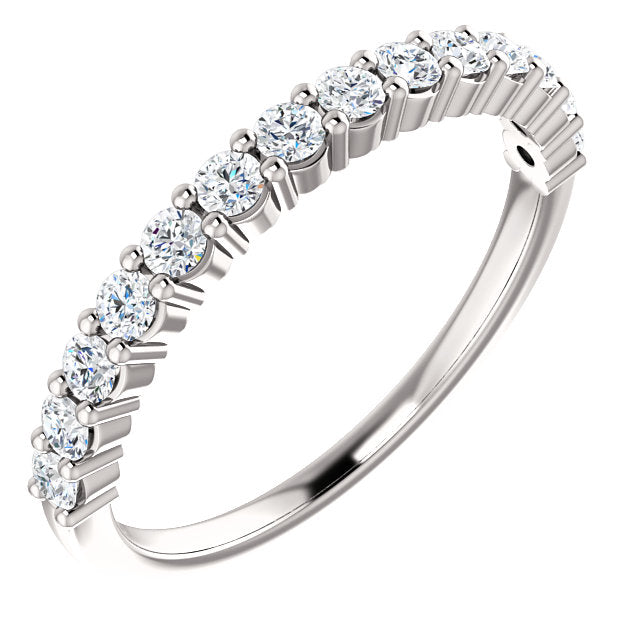 1/3ct 14k Diamond Wedding Band with Shared Prongs