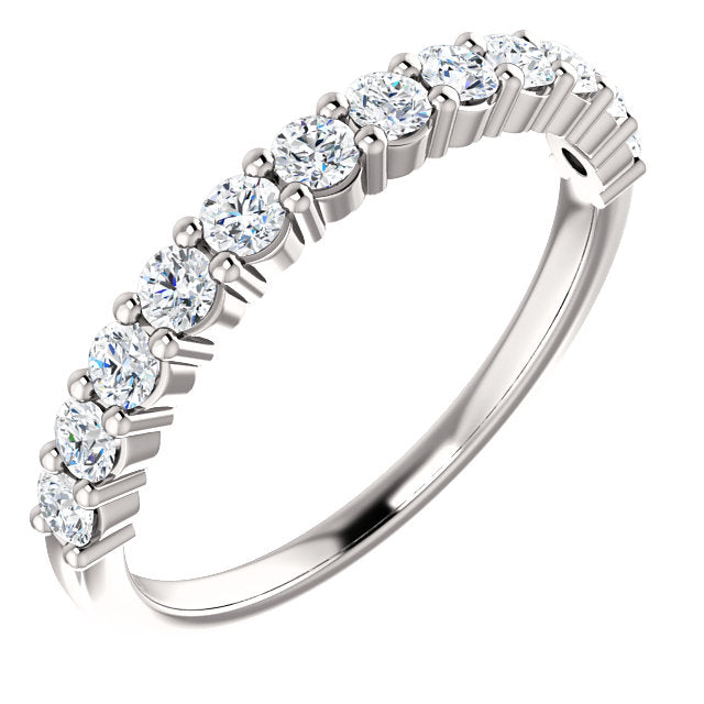 1/2ct 14k Diamond Wedding Band with Shared Prongs