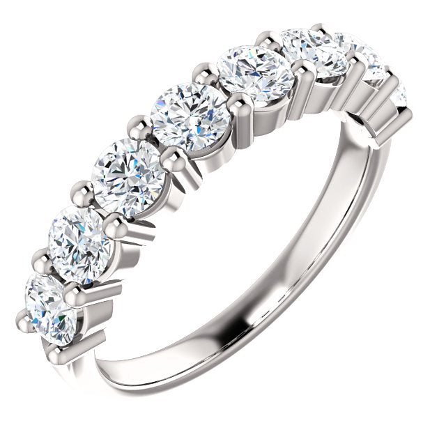 1.25ct 14k Diamond Wedding Band with Shared Prongs