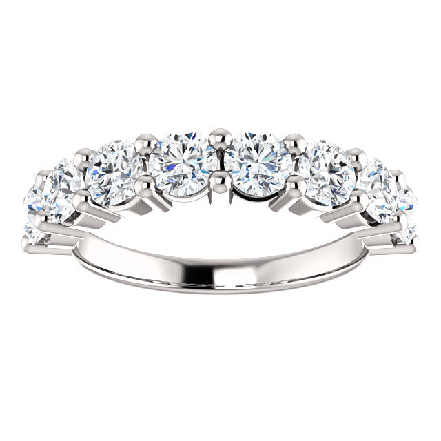 1.60ct 14k Diamond Wedding Band with Shared Prongs